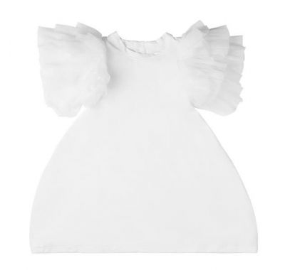 "Παιδικό φόρεμα The Tiny Universe ""The Tiny Wings Dress"" White στο Bebe Maison"