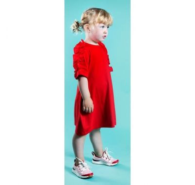 "Παιδικό φόρεμα The Tiny Universe ""Snake Shoulder Dress"" Sharp Red στο Bebe Maison"