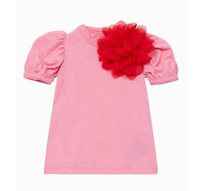 """Παιδικό φόρεμα The Tiny Universe """"Tiny Flower"""" Pink & Red στο Bebe Maison"""
