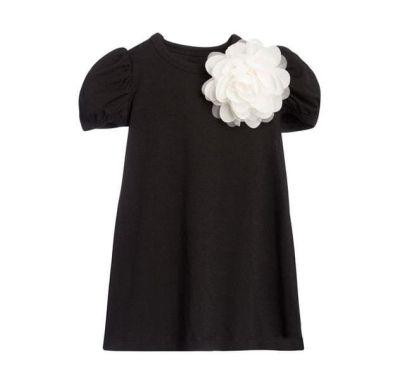 """Παιδικό φόρεμα The Tiny Universe """"Tiny Flower"""" All Black στο Bebe Maison"""
