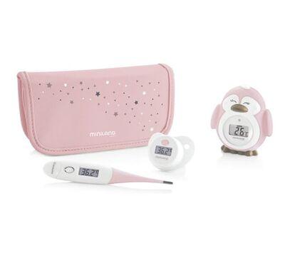 Σετ ψηφιακό θερμόμετρο Miniland Thermokit Pink στο Bebe Maison