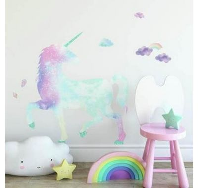 "Roommates Αυτοκόλλητα τοίχου ""Μονόκερος Glitter"" στο Bebe Maison"