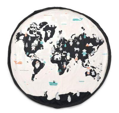 Play & Go Στρώμα παιχνιδιού - τσάντα 2 σε 1 Worldmap στο Bebe Maison
