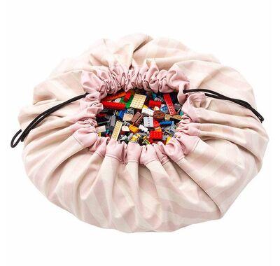 Play & Go Στρώμα παιχνιδιού - τσάντα 2 σε 1 Stripes Pink στο Bebe Maison