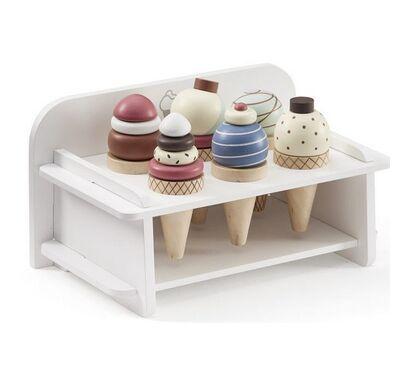 Kids Concept Ξύλινο σταντ παγωτών λευκό-πολύχρωμο στο Bebe Maison