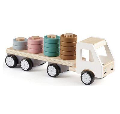 Kids Concept Ξύλινο φορτηγάκι με κρίκους στο Bebe Maison
