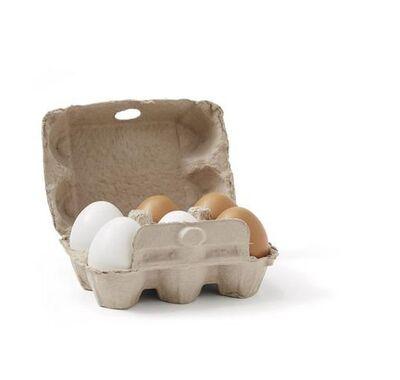 Kids Concept Σετ 6 ξύλινα αυγά στο Bebe Maison