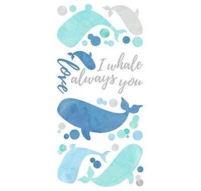 Αυτοκόλλητα τοίχου RoomMates Φάλαινες I will always love you στο Bebe Maison