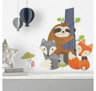 Αυτοκόλλητα τοίχου RoomMates Βραδύπους & αλεπούδες στο Bebe Maison
