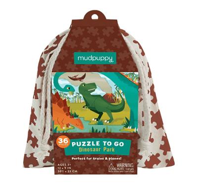 Παζλ ταξιδίου 36 κομματιών σε υφασμάτινη τσάντα Mudpuppy Δεινόσαυροι στο Bebe Maison