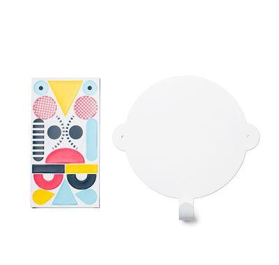 Κρεμαστάρι τοίχου & μαγνητικά σχήματα TRESXICS Πρόσωπο λευκό-πολύχρωμο στο Bebe Maison
