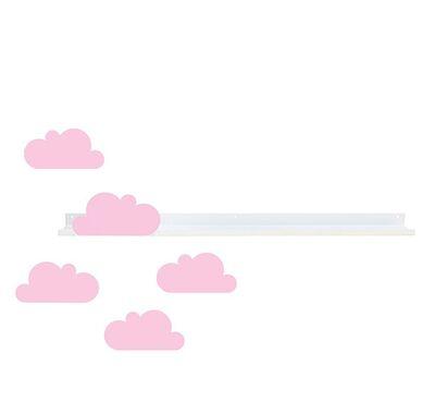 Ράφι τοίχου & αυτοκόλλητα TRESXICS συννεφάκια - ροζ στο Bebe Maison