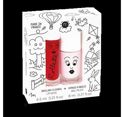 Σετ Lip gloss & βερνίκι νυχιών Nailmatic Kids Cottage Cerise-Bella στο Bebe Maison