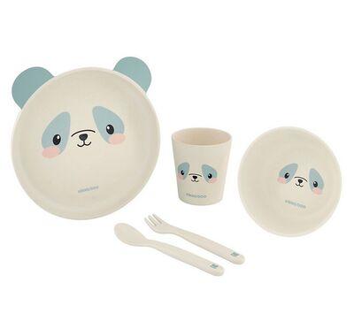 Σετ φαγητού από μπαμπού Kikka Boo Panda Blue στο Bebe Maison