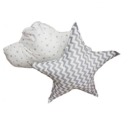 Σετ διακοσμητικά μαξιλαράκια Funna Baby Paloma Grey στο Bebe Maison