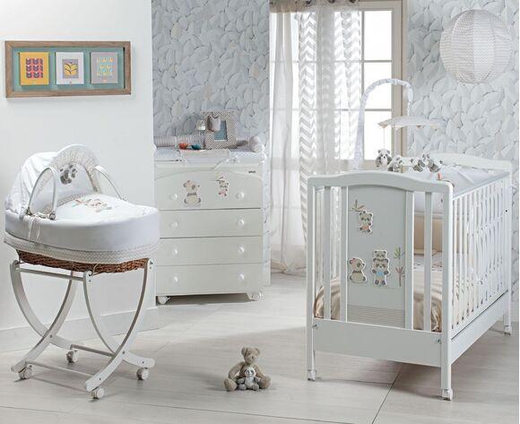 Ολοκληρωμένο βρεφικό δωμάτιο Picci σχέδιο Bobo Lux white/sand στο Bebe Maison