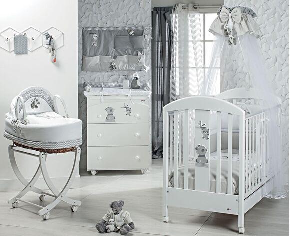 Ολοκληρωμένο βρεφικό δωμάτιο Picci σχέδιο Bobo white/grey στο Bebe Maison