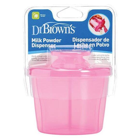 Δοχείο μεταφοράς/δοσομετρητής γάλακτος Dr Brown's ροζ στο Bebe Maison