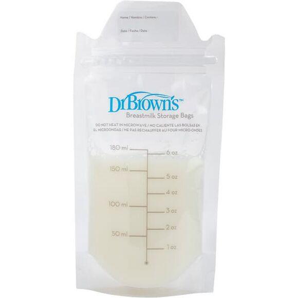Σακουλάκια αποθήκευσης μητρικού γάλακτος 180ml Dr Brown 25 τμχ στο Bebe Maison