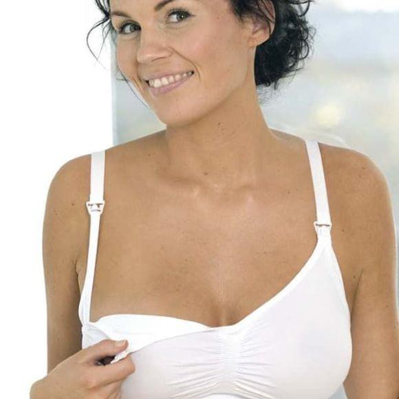Σουτιέν θηλασμού Carriwell χωρίς ραφές Seamless Nursing Bra S, M, L, XL Λευκό στο Bebe Maison