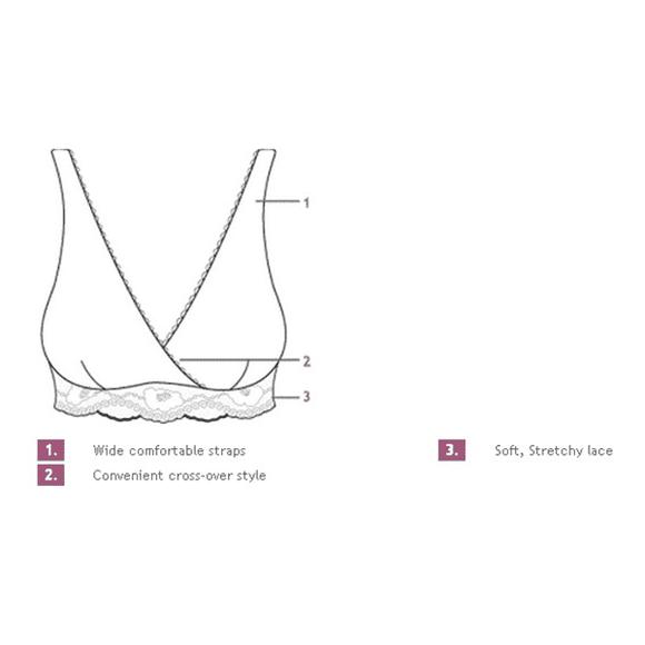 Δαντελένιο κρουαζέ σουτιέν θηλασμού Carriwell S, M, L, XL Λευκό στο Bebe Maison
