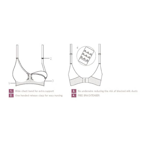 Σουτιέν θηλασμού Carriwell χωρίς ραφές, από οργανικό βαμβάκι S, M, L, XL Λευκό στο Bebe Maison