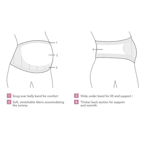Υποστηρικτική ζώνη εγκυμοσύνης Carriwell χωρίς ραφές S, M, L, XL Λευκό στο Bebe Maison