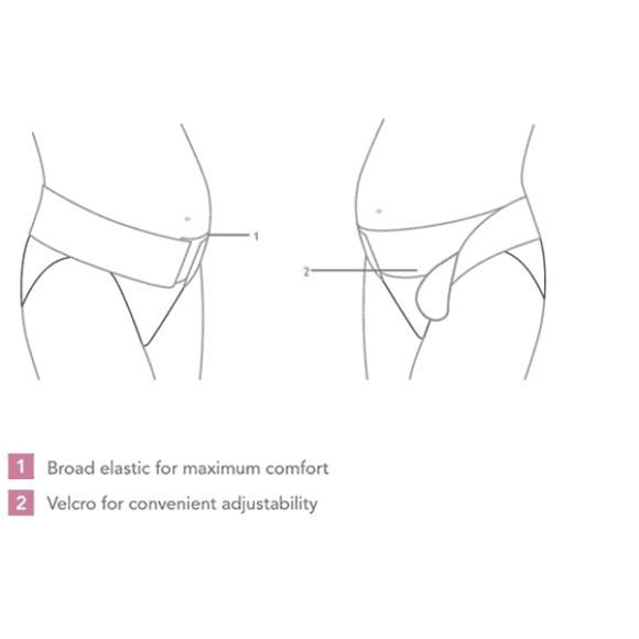 Ρυθμιζόμενη ζώνη εγκυμοσύνης με βέλκρο Carriwell Μαύρο στο Bebe Maison