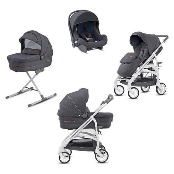 Πολυκαρότσι Inglesina Trilogy System Quattro Village Denim City silver/white στο Bebe Maison