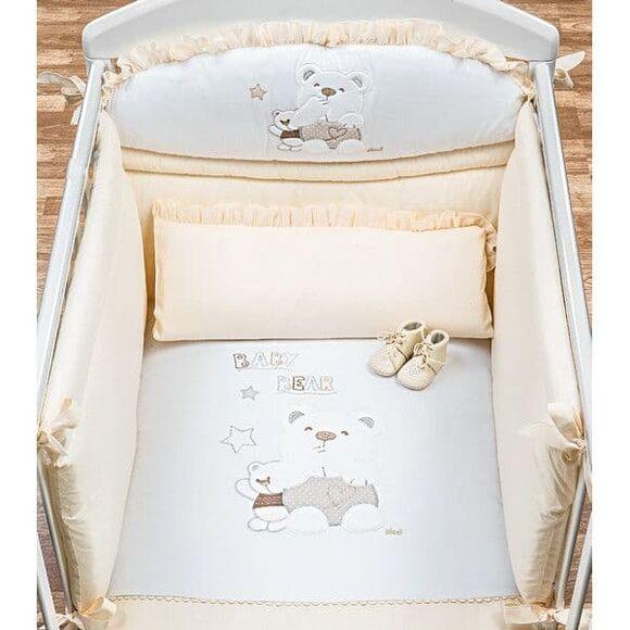 """Σετ προίκας Picci 3τμχ σχέδιο Mami """"Baby bear"""" beige στο Bebe Maison"""