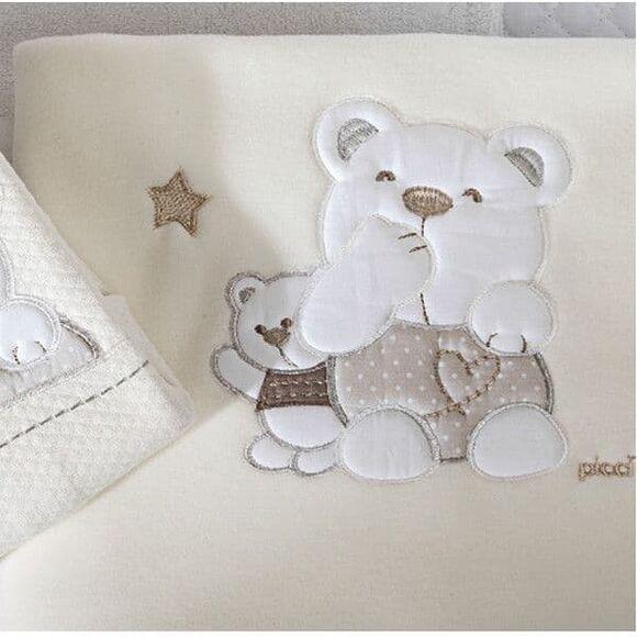 Κουβέρτα fleece αγκαλιάς Picci σχέδιο Mami beige στο Bebe Maison