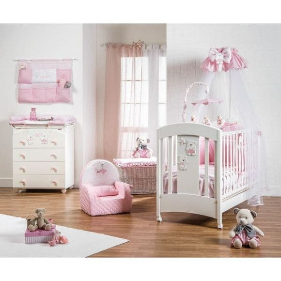 Ολοκληρωμένο βρεφικό δωμάτιο Picci σχέδιο Mami Lux Pink στο Bebe Maison