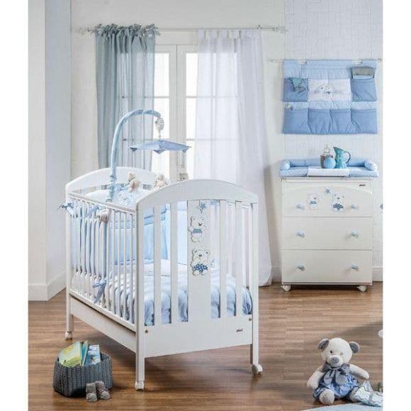 Ολοκληρωμένο βρεφικό δωμάτιο Picci σχέδιο Mami Blue στο Bebe Maison
