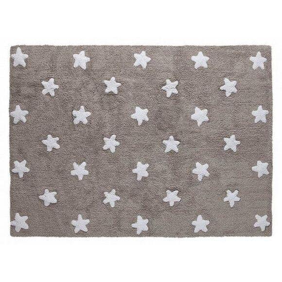 Παιδικό χαλί Lorena Canals γκρι αστέρια λευκά LΟR-C-G-SW 120x160 στο Bebe Maison