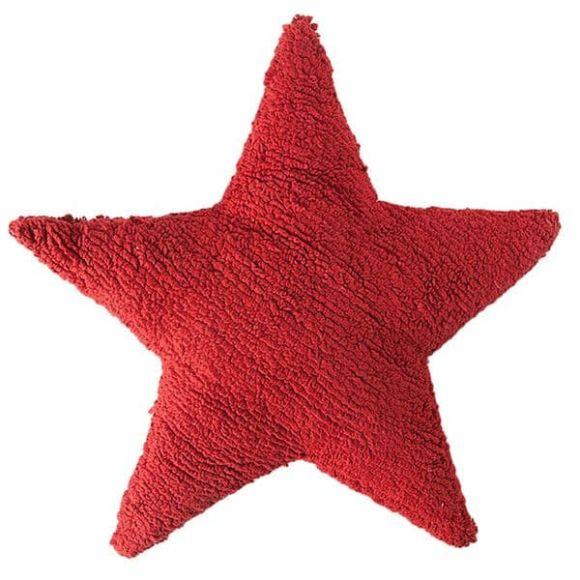Μαξιλάρι αστέρι Lorena Canals κόκκινο στο Bebe Maison
