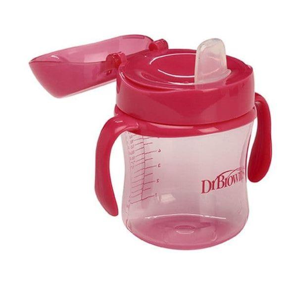 Κύπελλο με μαλακό στόμιο Dr Brown 180ml κόκκινο στο Bebe Maison