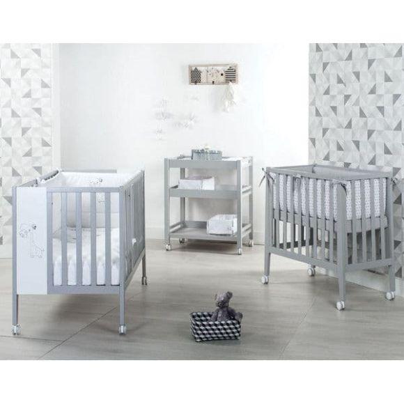 Βρεφικό κρεβάτι και λίκνο Picci σχέδιο Nina Converse grey στο Bebe Maison