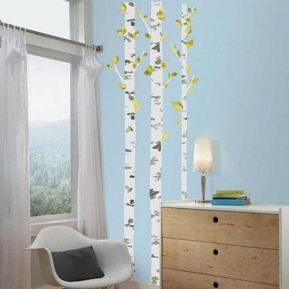 Αυτοκόλλητα τοίχου Roommates Birch Trees RMK2662GM στο Bebe Maison
