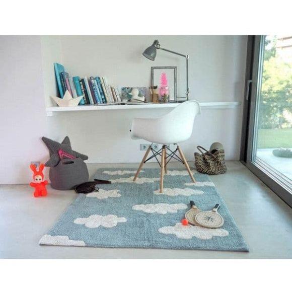 Παιδικό χαλί Lorena Canals C-CL-VB Συννεφάκια γαλάζιο 120x160 στο Bebe Maison