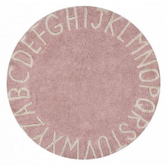 Παιδικό χαλί Lorena Canals C-ABC-VNN Στρόγγυλο ABC απαλό ροζ. 150εκ. Διάμετρος στο Bebe Maison