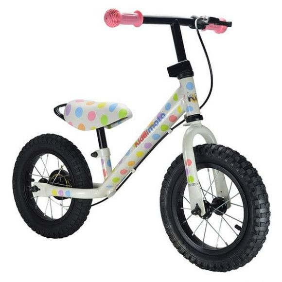 Kiddimoto: Ποδήλατο ισορροπίας SUPER JUNIOR MAX Pastel Dotty στο Bebe Maison