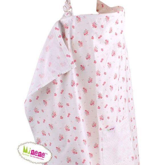 Minene Κάλυμμα Θηλασμού Μπεζ Ροζ Φλοραλ 2021 στο Bebe Maison