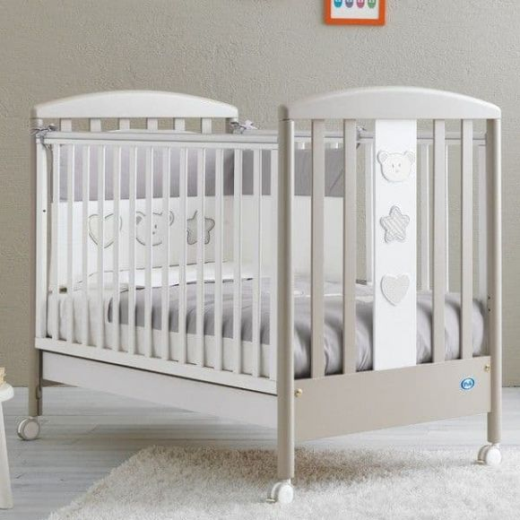 Βρεφικό κρεβάτι Pali Birillo white/warm grey στο Bebe Maison