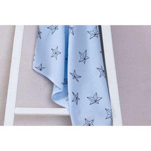 Minene Πικέ κουβέρτα 3D Light Blue Stars στο Bebe Maison