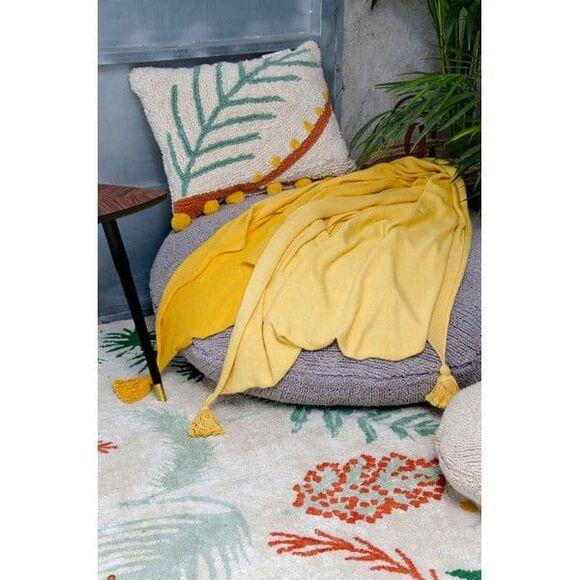 Lorena Canals. Μαξιλάρι Palm λευκό-πολύχρωμο στο Bebe Maison