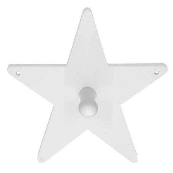 KIDS CONCEPT Κρεμαστάρι τοίχου Star λευκό στο Bebe Maison