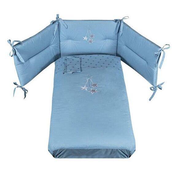 Σετ προίκας Picci 3τμχ σχέδιο Stella azzurro στο Bebe Maison