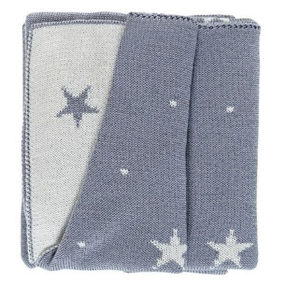 Κουβέρτα μάλλινη αγκαλιάς Picci Stella grigio στο Bebe Maison