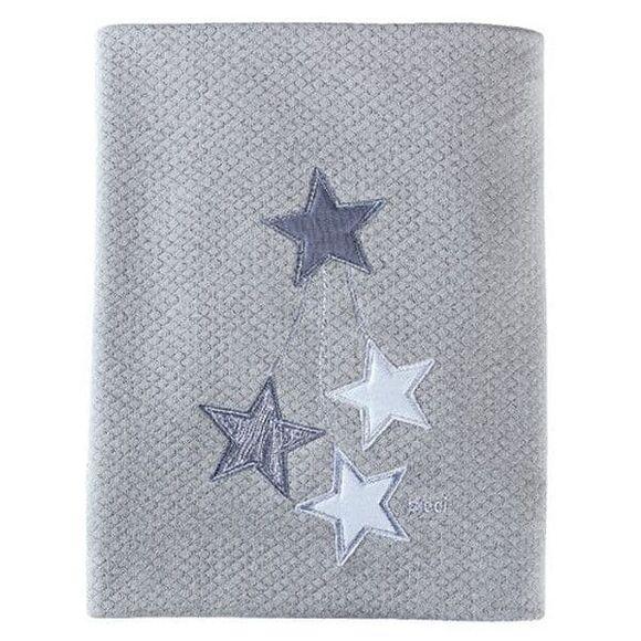 Κουβέρτα πικέ αγκαλιάς Picci Stella grigio στο Bebe Maison