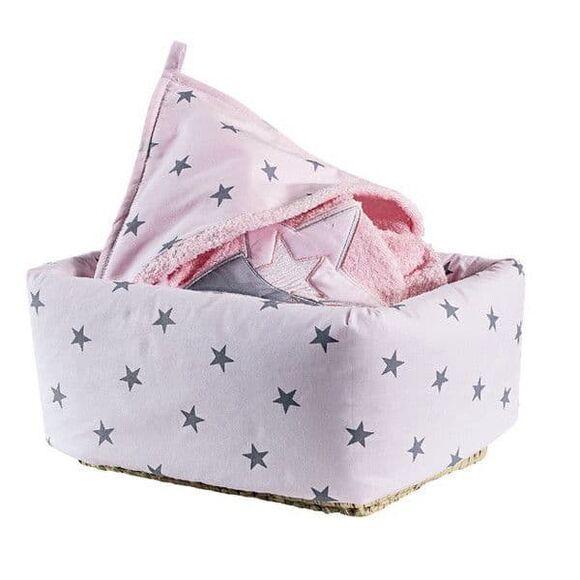 Καλάθι αποθήκευσης Picci σχέδιο Stella rosa στο Bebe Maison